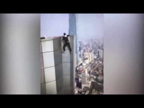 Daredevil Captures Own Death on Camera; Falls From 62-Story Building Attempting Pull Ups Off Skyscraper!